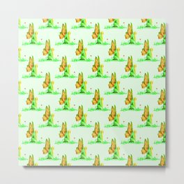Fairy and Flower Pattern Metal Print