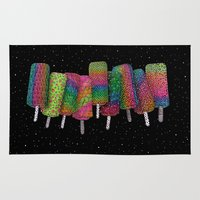 ice cream Area & Throw Rugs featuring Ice Cream  by Luna Portnoi