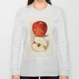 Vintage Illustration of a Sliced Apple Long Sleeve T-shirt