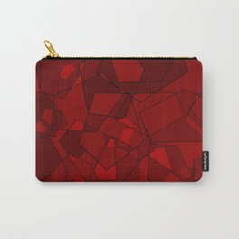 Pentagons Red Carry-All Pouch