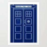 TARDIS Front Door - Doctor Who Art Print