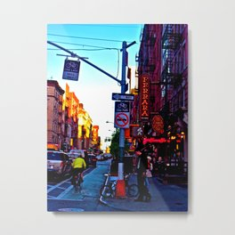 Sun Goes Down  in the City Metal Print