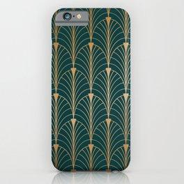 Hidden Sapphire Gold Pattern iPhone Case