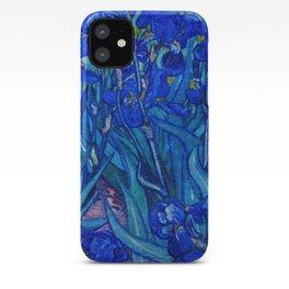 Van Gogh Irises in Indigo iPhone Case