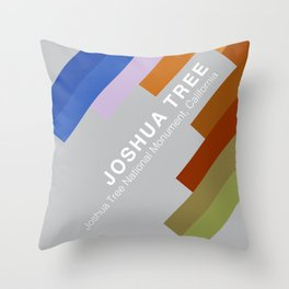 The colors of climbing spots - JOSHUA TREE Throw Pillow