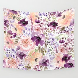 Floral Chaos Wall Tapestry