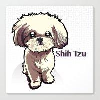 shih tzu Canvas Prints featuring Alice (Shih Tzu) by BinaryGod.com