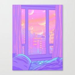 Shinjuku Summer View Canvas Print