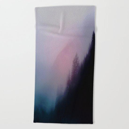 Foggy empire Beach Towel