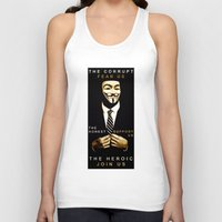 anonymous Tank Tops featuring anonymous by Adam Cieslik