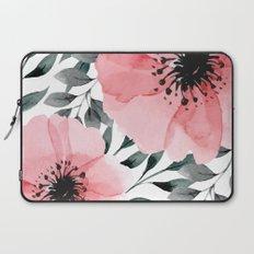 Big Watercolor Flowers Laptop Sleeve