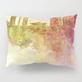 Riyadh skyline in watercolour background  Pillow Sham