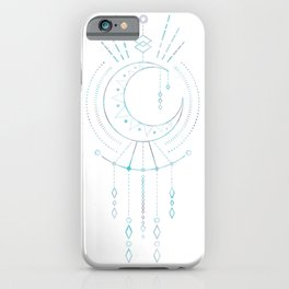 Mandala Crescent Moon iPhone Case