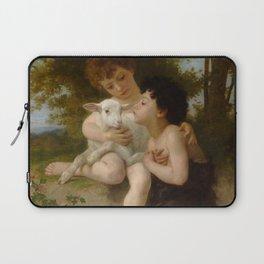 """William-Adolphe Bouguereau """"Les Enfants à L'Agneau (Children With the Lamb)"""" Laptop Sleeve"""