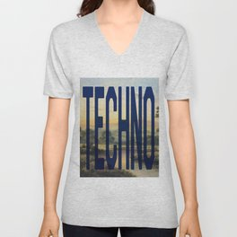 TECHNO Unisex V-Neck