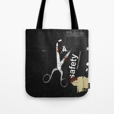 Safety [ not guaranteed ] | Collage Tote Bag