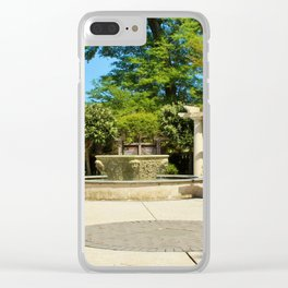 Tranquility Garden Clear iPhone Case