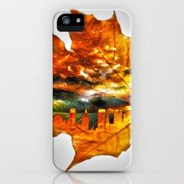 NYC autumn iPhone Case