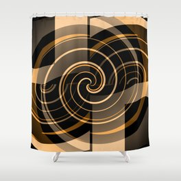 Caramel & Licorice Fudge Shower Curtain