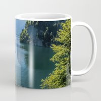 germany Mugs featuring Germany, Malerblick, Koenigssee Lake III by UtArt