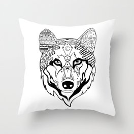 Sonya The Wolf Throw Pillow