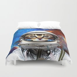 Astronaut Cat #2 Duvet Cover