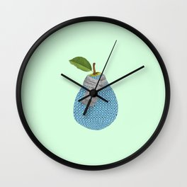 Pear winter Wall Clock
