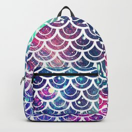 Mermaid Scales Pink Turquoise Blue Backpack