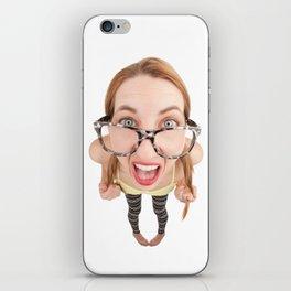 Geeky Girl iPhone Skin