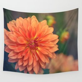 Golden orange dahlia  Wall Tapestry