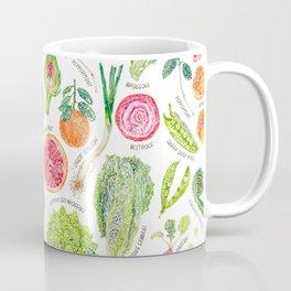 Spring Harvest Pattern Annotated Coffee Mug