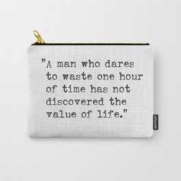 Charles Darwin great quote Carry-All Pouch