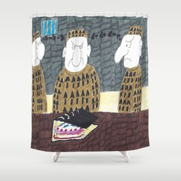 Look! It's A Cake.....IN A FILE!!!!! Shower Curtain