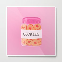A jar of cookies Metal Print