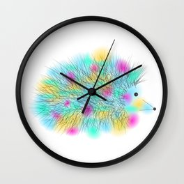 Punky Hedgehog Wall Clock