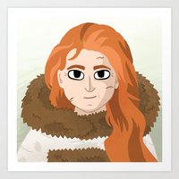 ygritte Art Prints featuring Ygritte by Matti