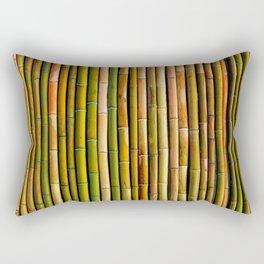 Bamboo fence, texture Rectangular Pillow