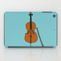 cello iPad Cases featuring Cello by Illustrated by Jenny