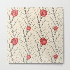 Branch & Roses Metal Print