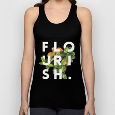 Flourish #society6 #buyart #typography #artprint Unisex Tank Top