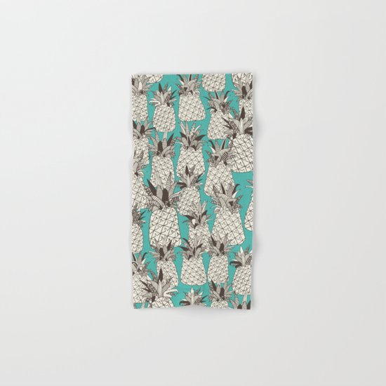 pineapple turquoise sea Hand & Bath Towel