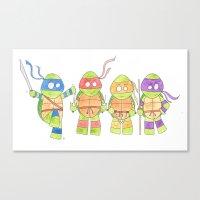ninja turtles Canvas Prints featuring Ninja Turtles by Icameisawiateit