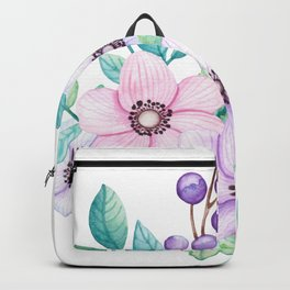 Watercolour Spring Bouquet Backpack