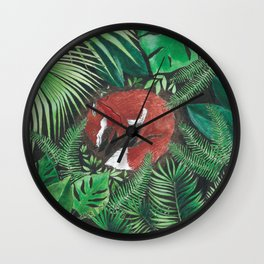 Bandito Fox Jungle Wall Clock