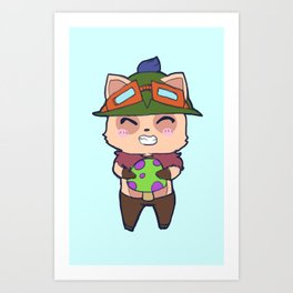 Cute Teemo design Art Print