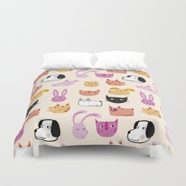 All the Pets Duvet Cover