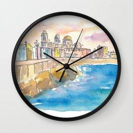 Cadiz Costa De La Luz Waterfront Wall Clock