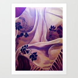 Two Colors Joined Together... Art Print