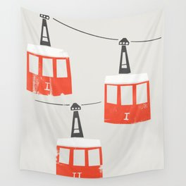 Barcelona Cable Cars Wall Tapestry