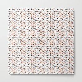 Kawaii Sushi Pattern Metal Print